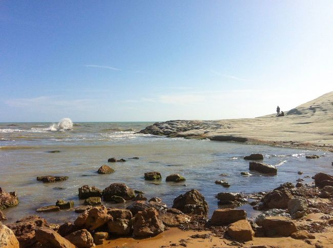 Sea Beach Nature Rock - Object Beauty In Nature Sky Horizon Over Water Water Tranquil Scene Tranquility Scenics Blue Outdoors No People Day Clear Sky