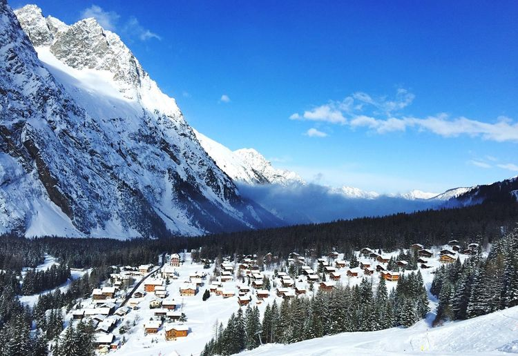 La Fouly Beach ? Mountains Panorama Valais Winter Chalet Paysage Village