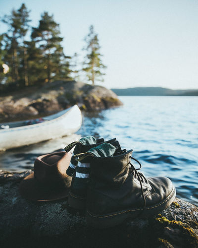 Adventure Club Canoe Nature Nature Photography Sweden Swimming Adventure Clear Sky Close-up Clothes Day Focus On Foreground Jump In The Water  Lake Lake View Lakeshore Nature Nature_collection No People Outdoor Photography Outdoors Sea Tree Water Waterfront
