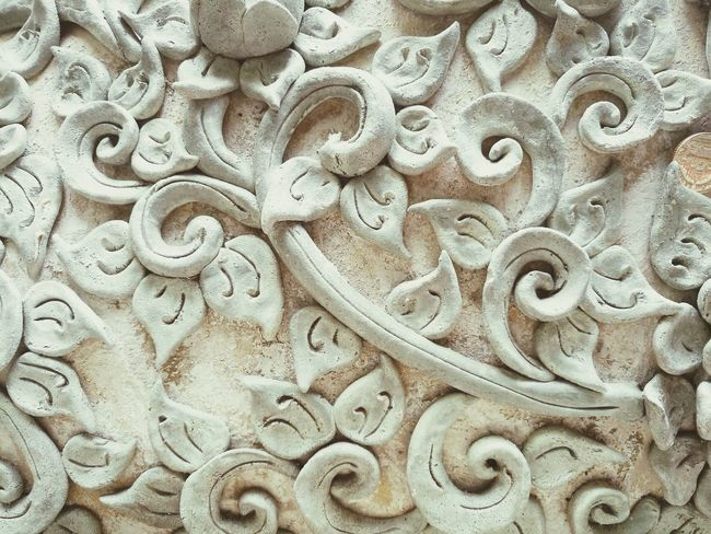 พญานาค Close-up Pattern Backgrounds Serpent Statue Craft Workmanship Stucco Molded Lime White Worship Belief Thailand Temple Abstract Texture Background