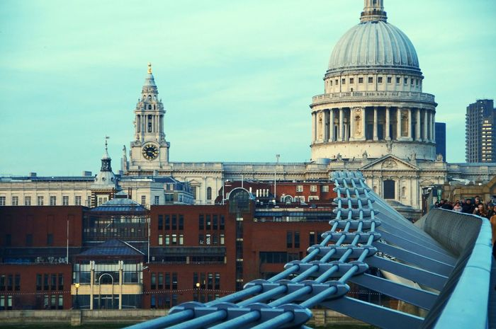 Architecture Travel Destinations City Built Structure Travel Winter Dome Outdoors Cityscape Sky Day London St Paul's Cathedral Millennium Bridge EyeEmNewHere