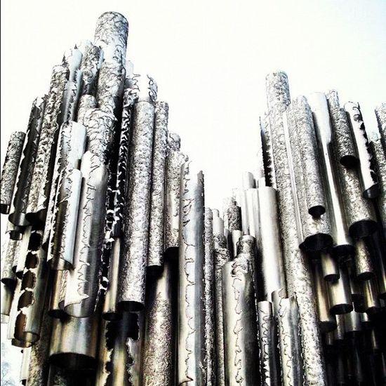 Monument to Sibelius Helsinquia c