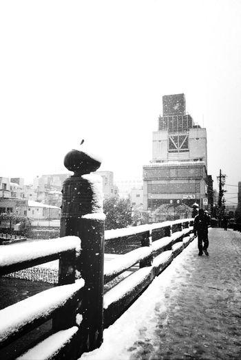 すごい雪でしたネ。出勤大変でした。 Snow Winter Japan Blackandwhite