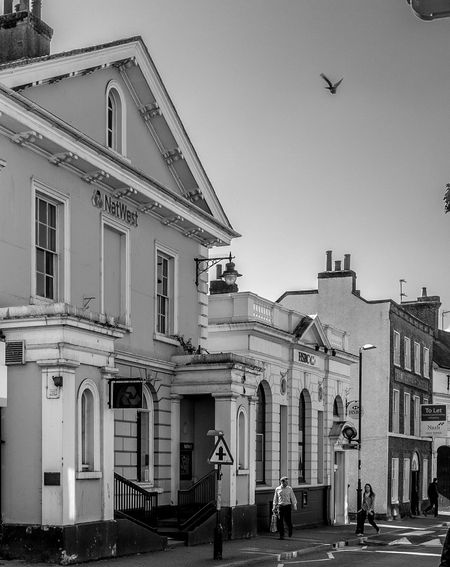 National Westminster and Midland Banks, High Street, Tring Hertfordshire Tring Monochrome Black And White Fujifilm X100T Banks Bank High Street
