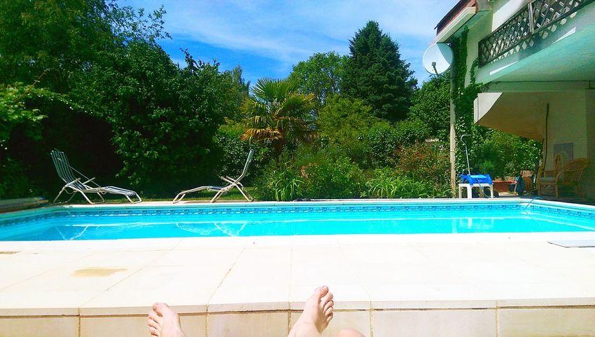 Paradise Bluesky Blue Turquoise MyHOUSE France Pool Poolside Sunny Day Summertime