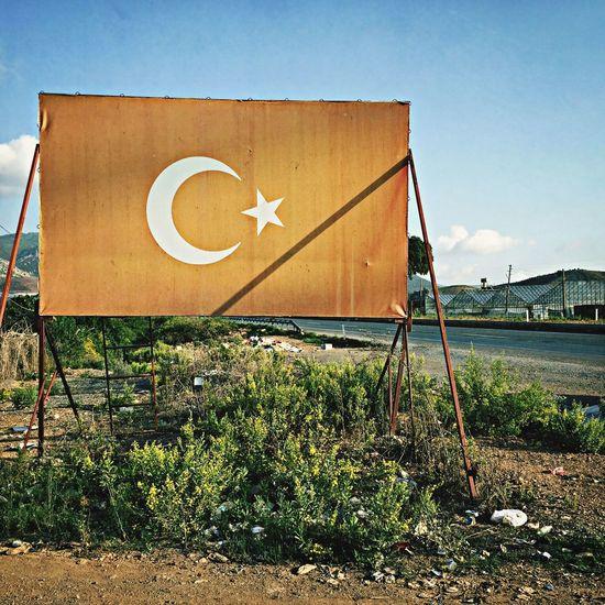 Road Sign Billboard Farbfehler Türkiye
