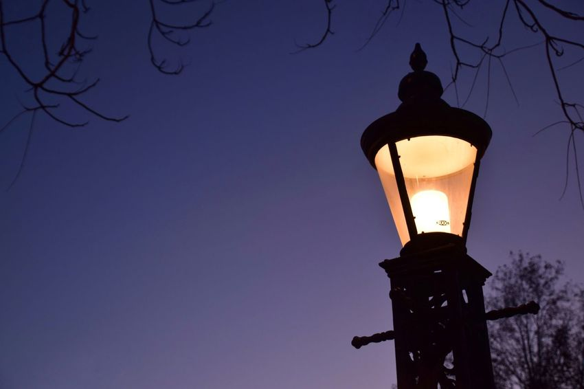 Lighting Equipment Illuminated Low Angle View Silhouette No People Electricity  Gas Light Street Light Lantern Outdoors Night Clear Sky Sky Sunset
