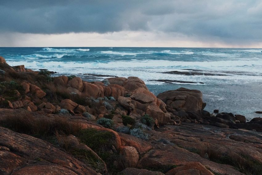 Indian Sea Cape Leeuwin Western Australia Water Beach Sky Land Tranquility Nature Coastline Horizon Horizon Over Water