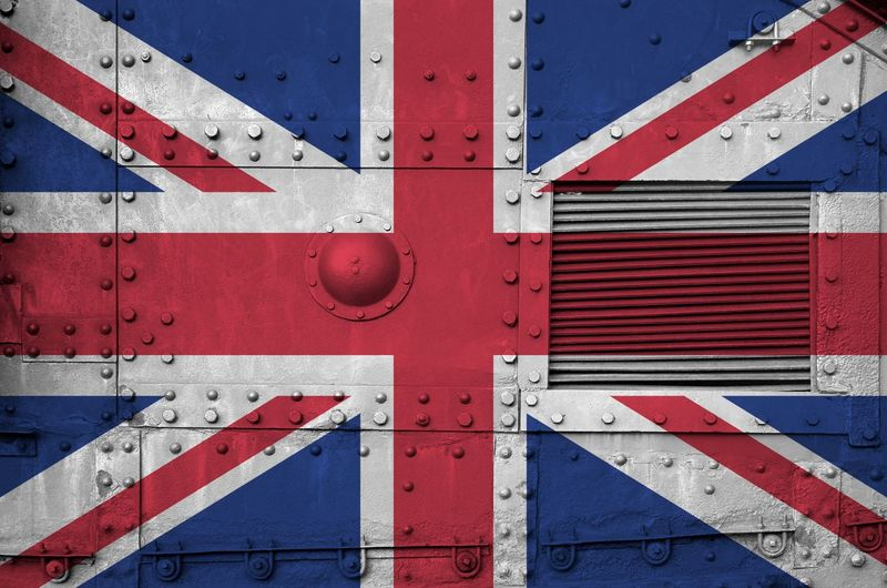 Full frame shot of metal uk flag