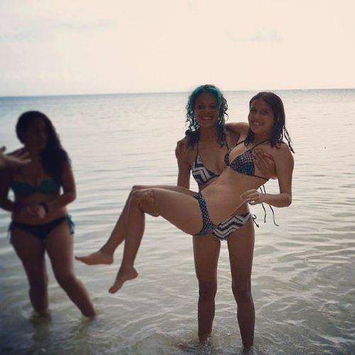Me and karly Friends Fun Puertorico Buye beach playa bluehair girls