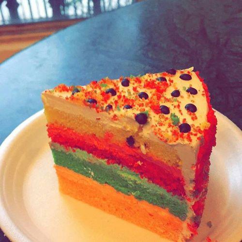 Rainbow Cake Apieceofcake Yum bestdaysofmylife sevenlayercake snapchat somethingsweet instagram instadaily instagramlove dietanotherday theregoesmyworkout extracalories chillingscenes benefitsofbeingsick