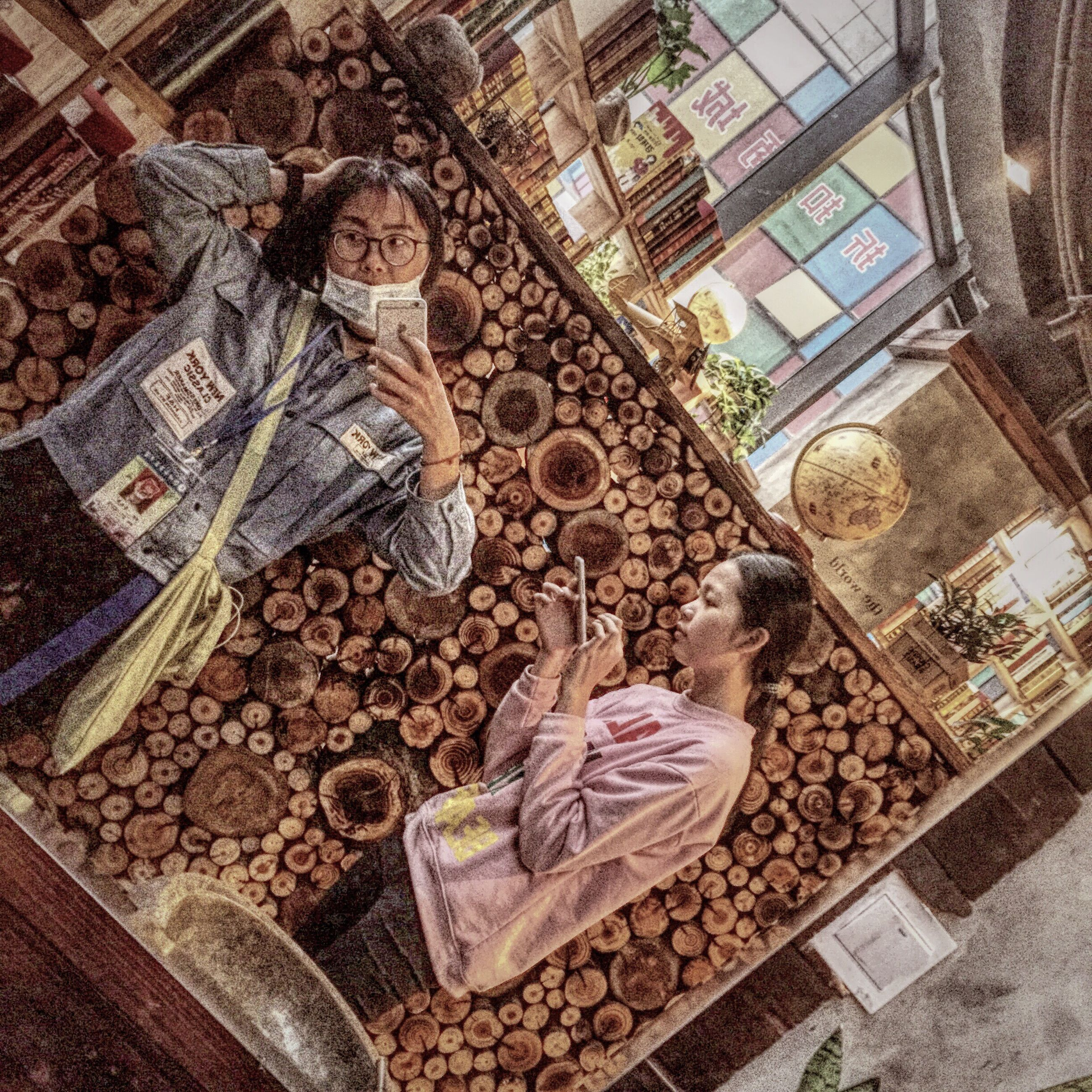 architecture, built structure, indoors, low angle view, art and craft, building exterior, art, religion, place of worship, creativity, window, spirituality, statue, human representation, sculpture, ornate, hanging, day