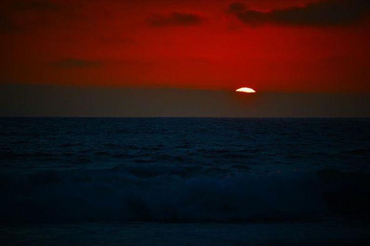 Sea Sky Water Horizon Over Water Horizon Sunset Beauty In Nature