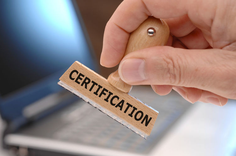 certification printed on rubber stamp in hand Authority Business Certified Print Abstract Agree Agreement Approval Approved Attestation Certificate Certification Close-up Communication Confirm Confirmation Confirmed Credentials Human Body Part Human Hand One Person Stamp Symbol Text