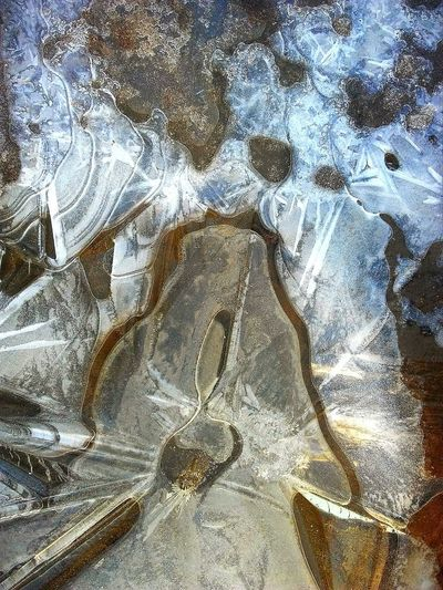 Ice art💗 Pretty Iowa Life Ice Frozen Check This Out Full Frame No People Pattern Close-up Textured  Day Creativity Outdoors Nature