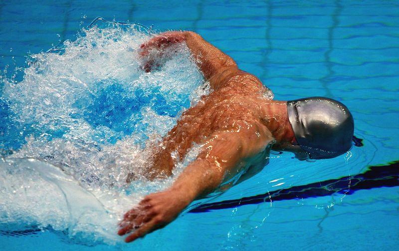 Male Swimmer Doing Butterfly Stroke