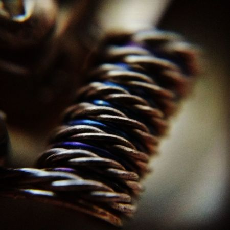 Some simple Coilart Coilporn Coilarchitects VapeLife Vapeporn Vapephotography Twisted Metal Colour Close Up Macroshot Connection Close-up Phone Cord Wired Indoors  Day No People