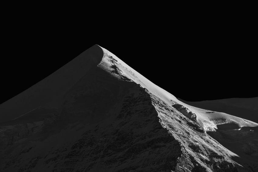 Black And White Blackandwhite Kleine Scheidegg Mountain Mountain Peak Peak Physical Geography Snow Snowcapped Mountain Swiss Alps Winter