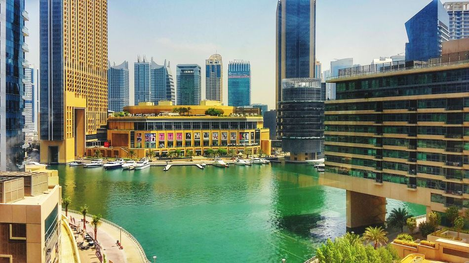 Dubaicity Water Buildings Bottes Colorful Watercolor Architecture Inovation Technology Community