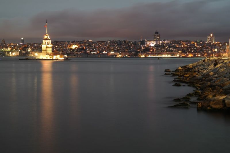 Istanbul City Istanbul Vapur Samsungphotography TBT  Building Exterior Architecture Built Structure City Water Illuminated Sky Travel Destinations Skyscraper Cloud - Sky Office Building Exterior Waterfront Outdoors Spire  No People Cityscape Nature Building Reflection Night
