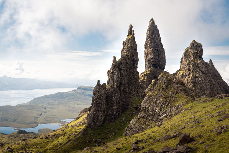 The old man of storr - iconic rock formation on the isle of skye, scotland.