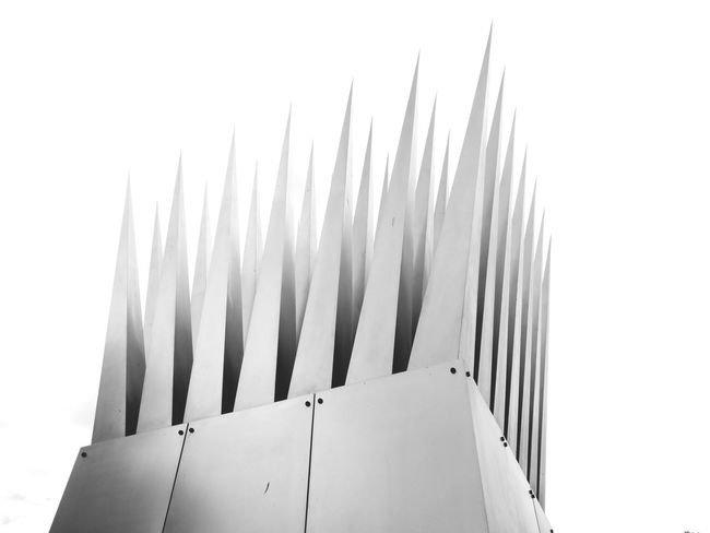 Outdoors Monument Built Structure Blackandwhite Grey Shapes And Forms Shades Of Grey Shape Abstract Minimalism Minimal Architecture Detail Spikes Spiked Shadows & Lights The Graphic City