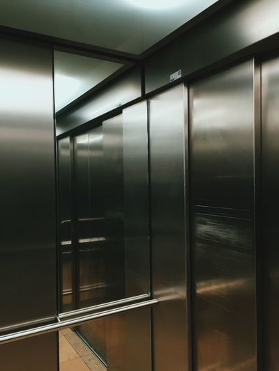 Interior Of Elevator With Reflection