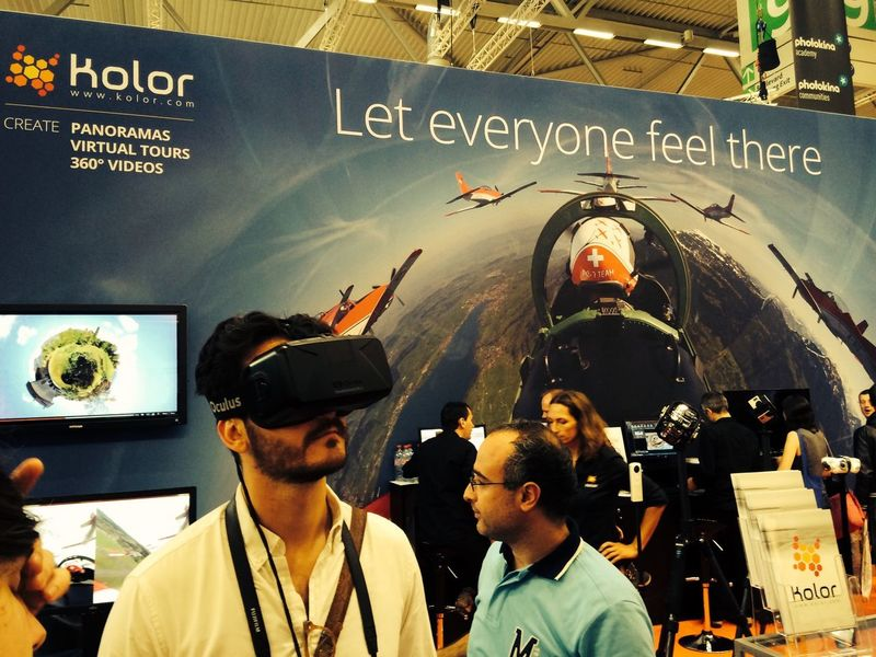 Testing Oculus Rift with 360° video content at Photokina