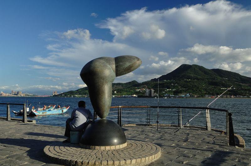 Sculpture on beach