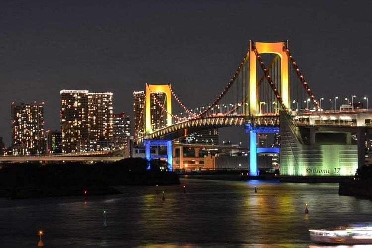This is my thank you♡ Busydays Nightshooters Nightlights Tokyo Rainbow Bridge Christmasillumination Eye4photography  Streamzoofamily A BLESSED HOLIDAYS EVERYONE...
