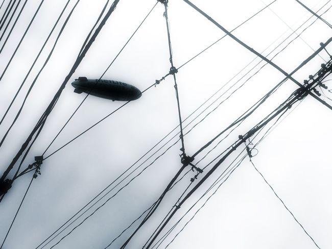 AirBalloon Blimp IPhoneography IPhoneArtism EyeEm Gallery Taking Photos EyeEm Best Shots - Black + White Monochrome 飛行船  Lookingup