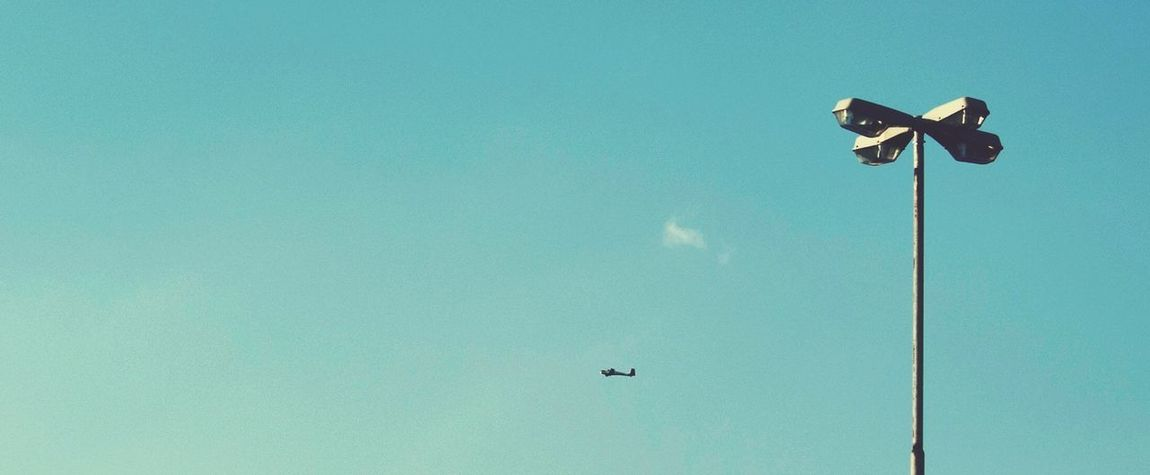 Airplane Streetlights Sky The Explorer - 2014 EyeEm Awards