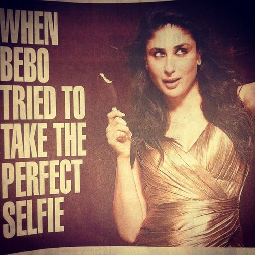 Bebo tired taking selfieeee♥♥♥♥♥so the newzzz is dat....who will give a perfect selfieee will get chance to click selfie with bebo♥♥♥to click selfiee with kareema give miss call on18004190980 u can also visitLostinpleasure .mymagnum.co.in