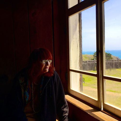 Mom Happy Mother's Day! Fort Ross Looking Out Of The Window
