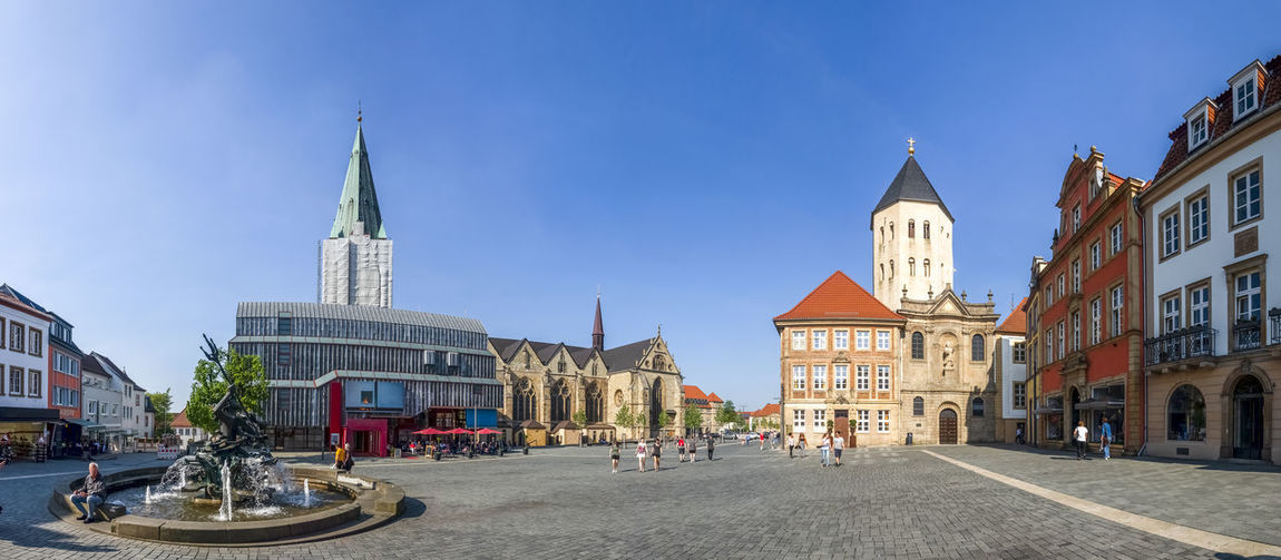 Paderborn, Germany Cathedral City City Hall Cityscape Market Nordrhein-Westfalen Paderborn Sunlight Daylight Gau Churc Gaukirche Germany No People Town Hall