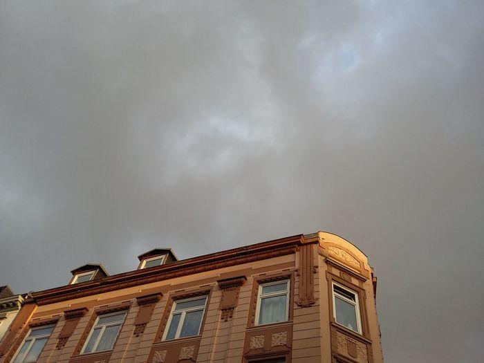 Sunlight on Building. · Hamburg Germany Hh 040 Ottensen Altona Architecture Urban Landscape Rain Clouds Gray Sky Grey Sky Sun And Rain