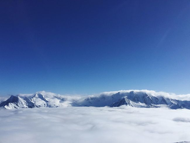 Snow and clouds in Austrian Alps Glacier Hintertux Alps Austria Winter Cold Temperature Snow Blue Beauty In Nature Nature Tranquility Scenics Copy Space Tranquil Scene Mountain White Color Snowcapped Mountain Frozen Day No People Outdoors Mountain Range Clear Sky Sky