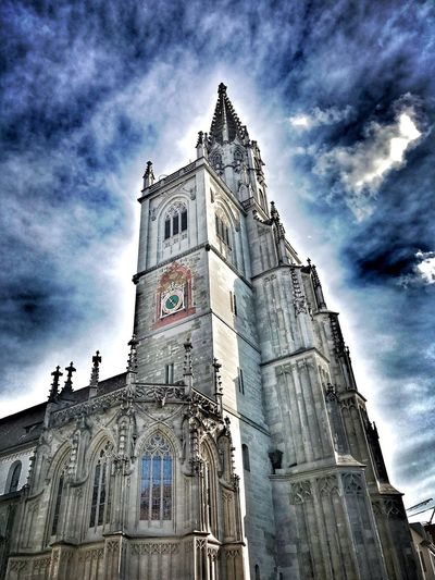 Konstanz Münster Constance Travel Building Church Architecture History Religion Low Angle View Spirituality Sky Place Of Worship Building Exterior Cloud - Sky Built Structure Day Travel Destinations Outdoors No People Façade Clock Tower Bell Tower