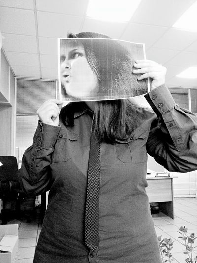 Only Women Front View Adults Only One Person People Adult Indoors  Day Work Window View Picture Fanny Face Face Blackandwhite Black And White Photography