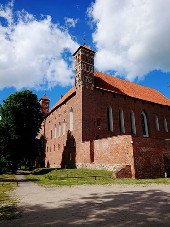 Cloud - Sky History Architecture Sky Building Exterior Outdoors No People Day Lidzbark Warmiński Poland Warmia