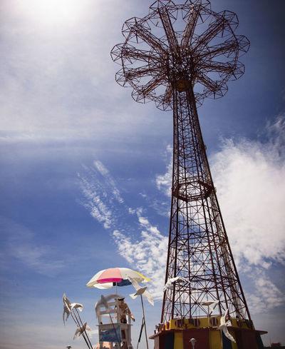 Amusementpark Beach Board Clouds Coney Island / Brooklyn NY Fun Sky Summer Sun