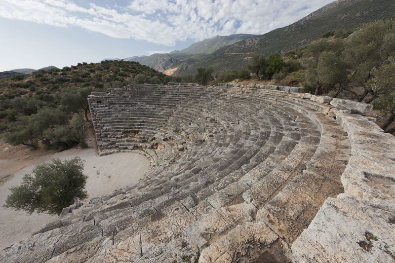 Amphitheater in Kas on Turkish Riviera - Kas, Antalya Province, Turkey, Asia Amphitheater Ancient Ancient Ancient Architecture Ancient Civilization Ancient History Antalya Archaeology Architecture Architecture Arts Culture And Entertainment Building History Kas Landmark Mediterranean  No People Old Ruin Steps Steps And Staircases Theater Traditional Culture Travel Destinations Turkey Turkish
