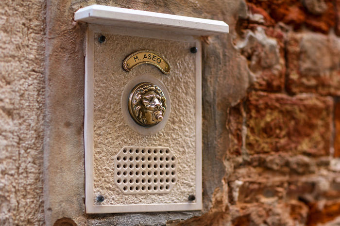 Door bell Door Bell Entrance The Week On EyeEm Venice, Italy Architecture Brass Building Exterior Close-up Day Doorbell No People Outdoors Street Street Photography Streetphotography Venice