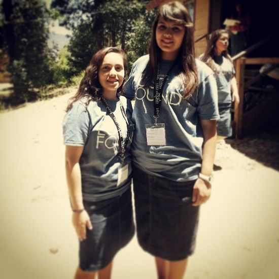 Had fun with this girl at camp. Love you dude:) lol YouthCamp Homegirl  Cecinthebackground Haha