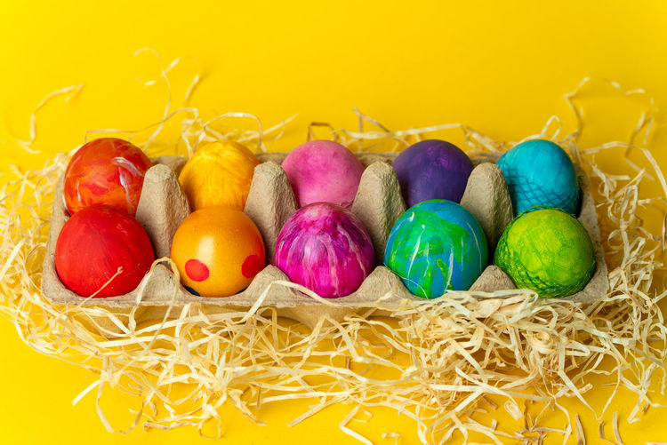 Easter time Easter Pastel Colorful Colors Spring Springtime Egg Eggs Multi Colored Easter Yellow Celebration Variation Holiday - Event Easter Egg Pastel Colored Egg Close-up Egg Carton Eggshell Animal Egg Nest Traditional Festival