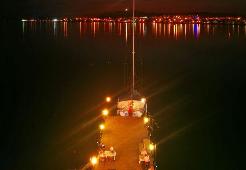 Illuminated Night Car Freight Transportation Outdoors No People Sky City Cityscape Ayvalik 🐚🐳🐬🏊 Ayvalık/cunda Turkey