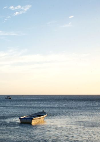 Solitario Sky Water Sea Horizon Over Water Horizon Nautical Vessel Scenics - Nature Beauty In Nature Transportation Waterfront Mode Of Transportation Nature Cloud - Sky Tranquility Tranquil Scene No People Non-urban Scene Idyllic Sunset Outdoors Inflatable  Rowboat