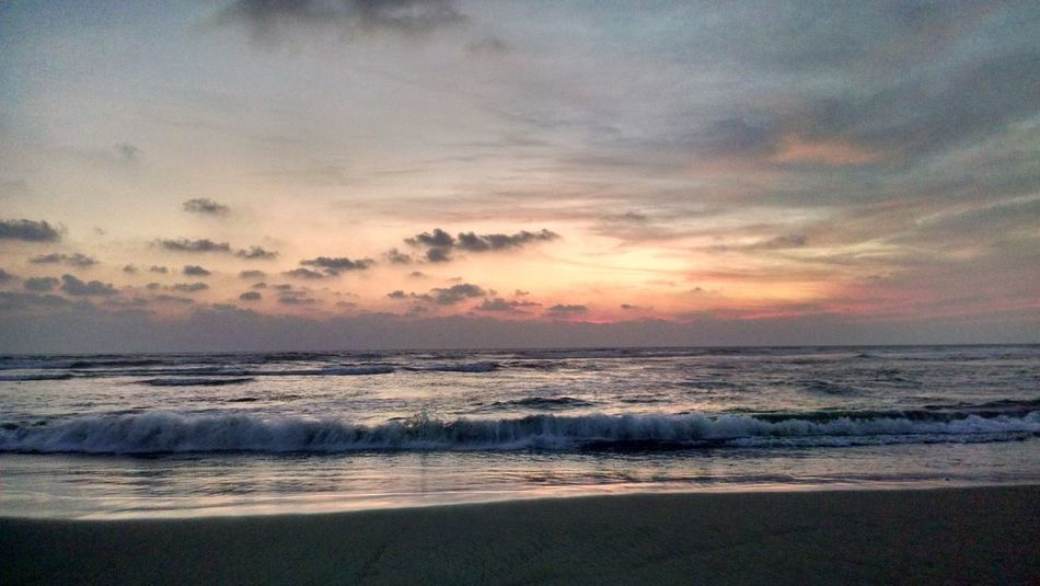 EyeEmNewHere Sunset Beauty In Nature Beach Tranquility Horizon Over Water Nature