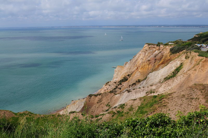 Scenic View Of Seascape At Isle Of Wight