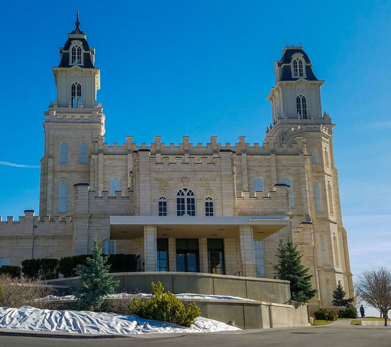 Temple Temple - Building Lds Temples Ldstemple Manti Utah Temple Manti Utah Lds LDS Temple Ldstemples Sunny Day